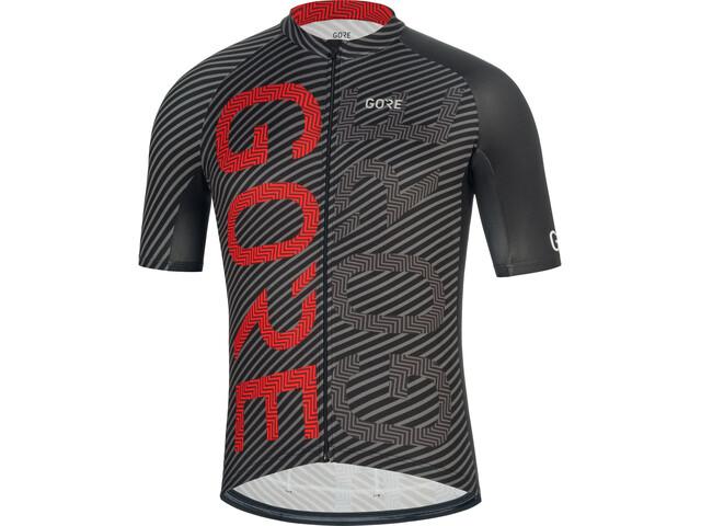 GORE WEAR C3 Brand Jersey Men black/red